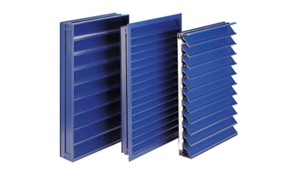A group of Maximair K Series architectural natural ventilation louvres
