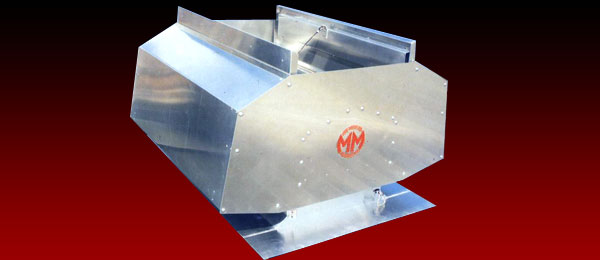 A flap type combination roof ventilator in mill finish aluminium