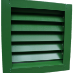 An Operating Box natural ventilation louvre fabricated from Green Plastisol