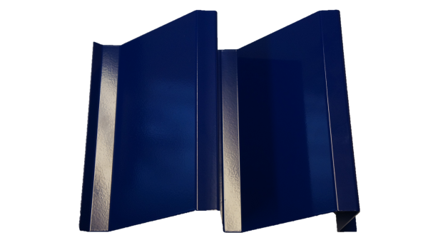 A section of fabricated Dummy Louvre painted blue