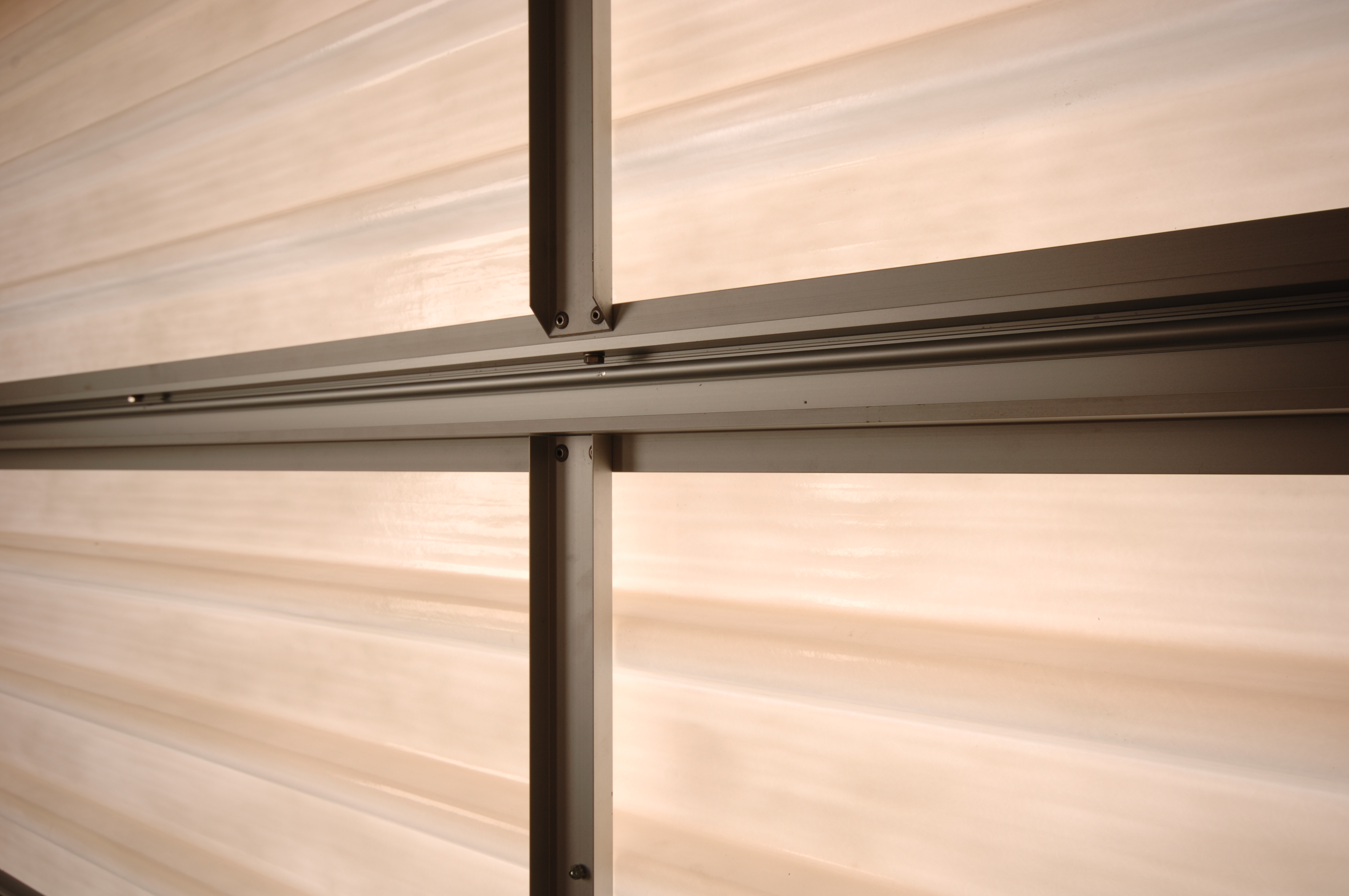 A close up inside view of a Filuma Garage Door