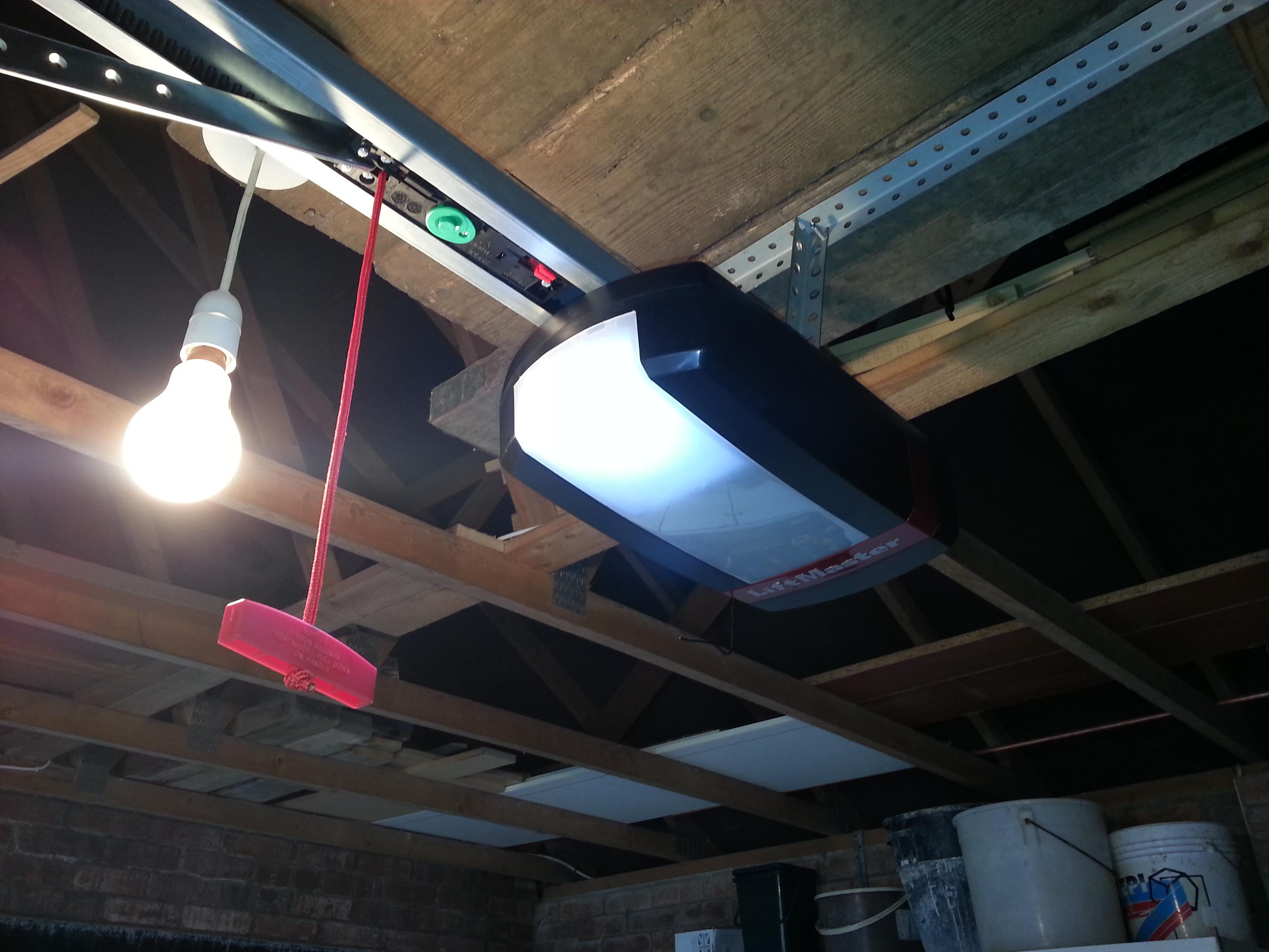 A Filuma Garage Door electric motor in-situ