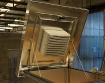 A fabricated Access Hatch complete with integrated Vent-axia fan