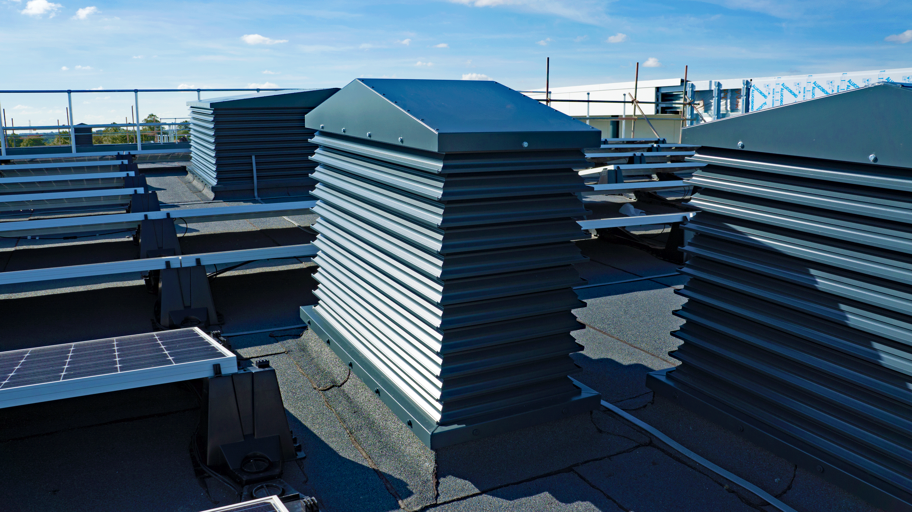 An A Series louvred natural ventilation weather turret in-situ