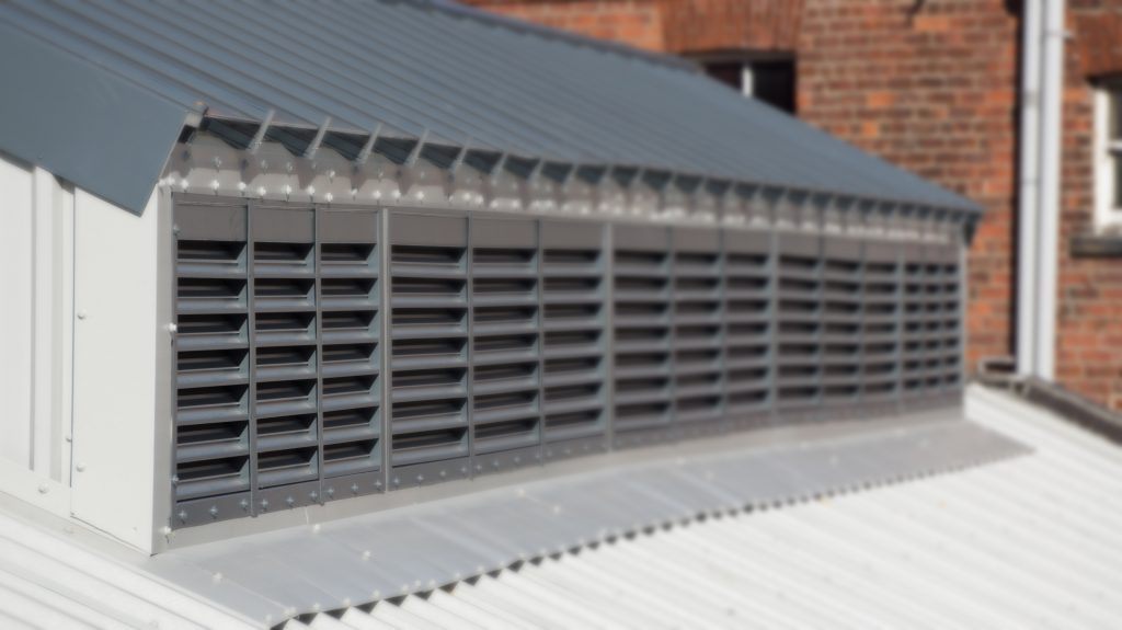 Thermac 2000 Thermal Louvres in-situ at Hull Trinity Market