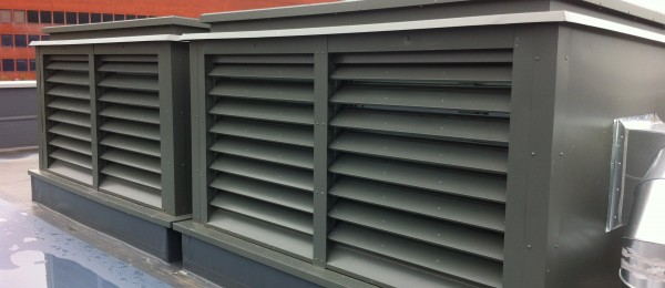 Thermac thermally resistant louvres in-situ at Sheffield University