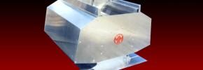 A flap type combination roof ventilator in mill finish aluminium