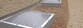 Ventura Rooflights situated in parkland at Swanage