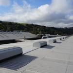 A line of Mackridge natural ridge ventilators in-situ on a roof in Todmorden