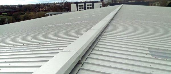 Mackridge SV natural ridge ventilators in-situ at a project in Brimingham